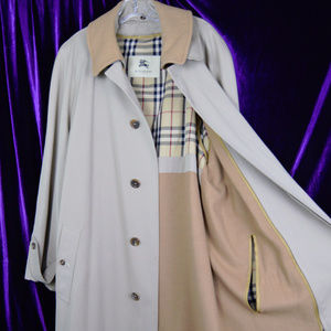 Burberry Lawrence 44 R Zip Out Liner Trench